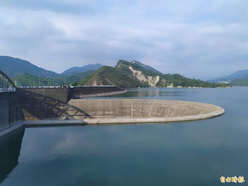供應民生用水為主的南化水庫,目前蓄水率約95﹪。(記者吳俊鋒攝)