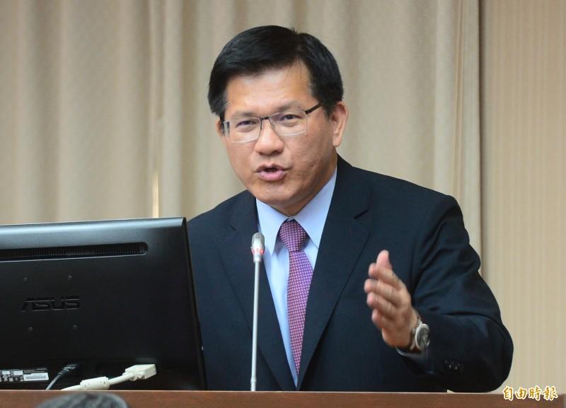 立法院交通委員會,交通部長林佳龍出席並備詢。(記者王藝菘攝)