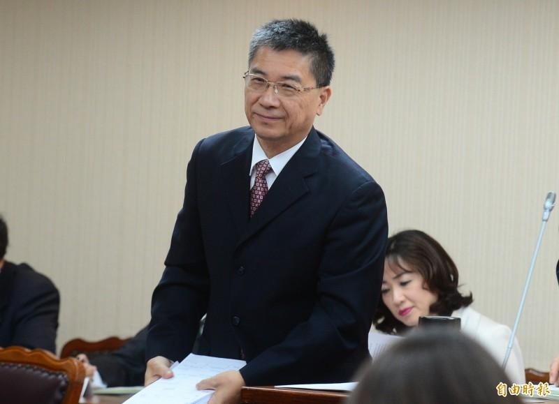內政部長徐國勇到出席立法院內政委員會,針對總預算案進行協商。(記者王藝菘攝)