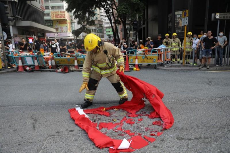 香港反送中示威活動引起旅居香港的中國人心生恐懼。(彭博)
