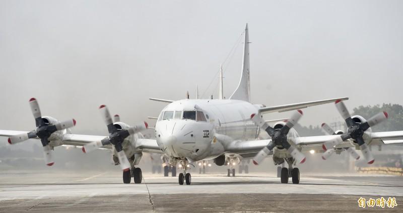 傳出軍方高層認為P-3C反潛機可取代反潛直升機功能,讓美方不解。圖為P-3C反潛機。(資料照)