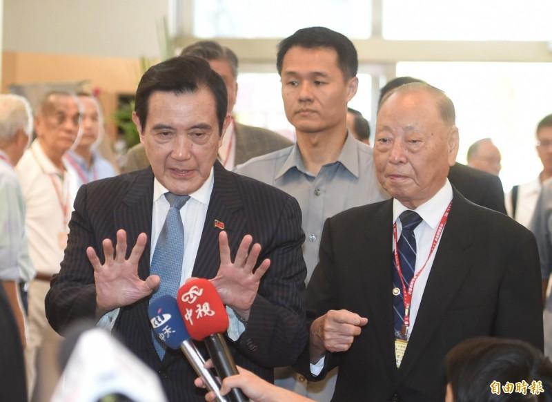 前總統馬英九日前針對陳同佳案表示,政府決定接受陳嫌來台投案是正確決定,符合刑法規定及人道原則。(記者劉信德攝)