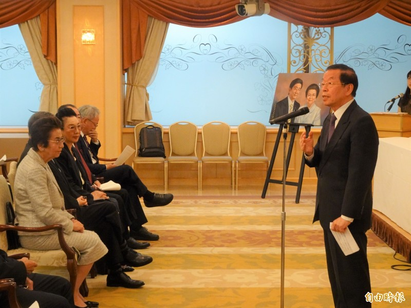 謝長廷強調,台灣在兩岸複雜關係,仍有台灣自己的驕傲,政府更必須要全力保護台灣的民主現狀。圖為駐日代表謝長廷19日受邀在贈樹儀式上致詞。(資料照,記者林翠儀攝)