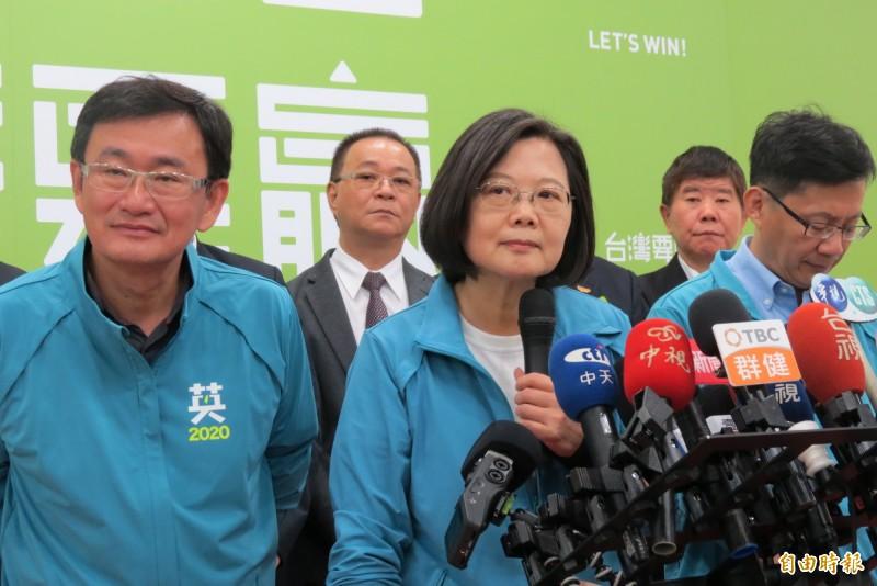 對於陳同佳案,總統蔡英文要香港政府儘速交人及事證。(記者蘇金鳳攝)