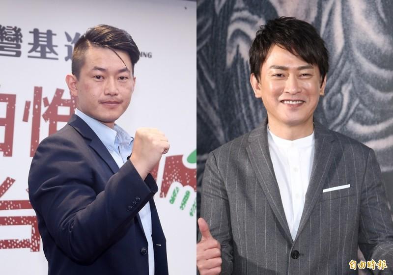 台中市立委參選人陳柏惟(左)和藝人王識賢(右)。(資料照)