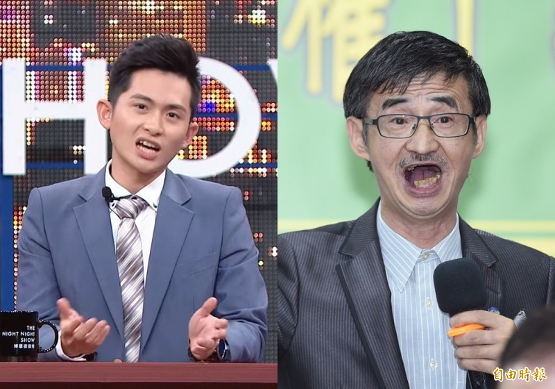 脫口秀節目主持人曾博恩(左)和作家吳祥輝(右)。(資料照)