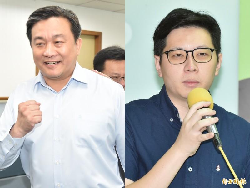 台南市立委王定宇(左)和桃園市議員王浩宇(右)。(資料照)