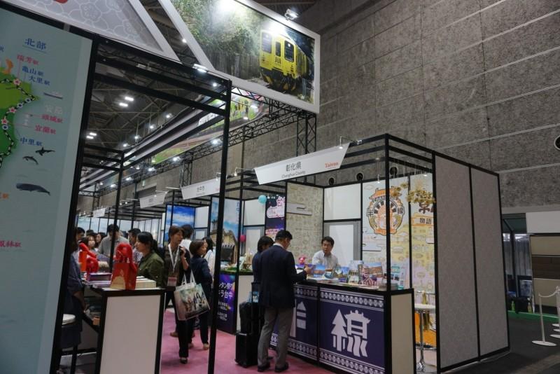 建縣300年的彰化縣,古名又叫「半線」,日本大阪的旅遊展,台灣館攤位區彰化吸睛。(圖縣府提供)