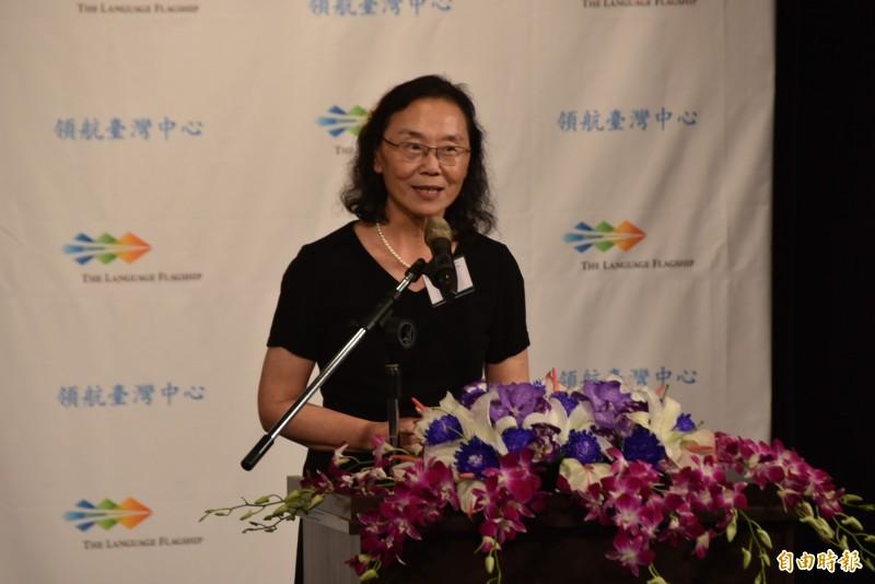 美國領航總部代表主任趙德麟說,該計畫由美國國防部支持的教育政策,因語言也是國家安全的重要一環,而中文項目過去長期設在中國,去年底首度申請過關,並在今年六月成立台灣中心,要培育全球化的專業菁英。(記者吳柏軒攝)