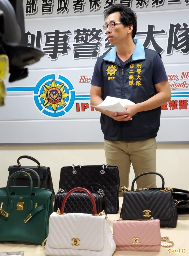 連千毅直播站查扣假貨近百人詢問,1人懷疑買到假「賓利」行李箱報案,檢警呼籲消費者勇於報案。(資料照)