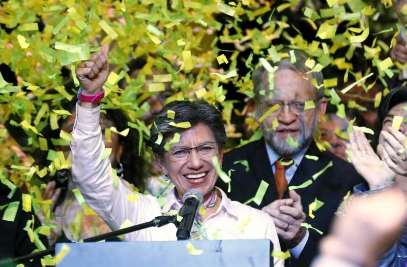 今年49歲的哥倫比亞共和國參議員克勞蒂亞·羅培茲在今年地方公職選舉中勝選,拿下哥國首都波哥大市長一職。(歐新社)
