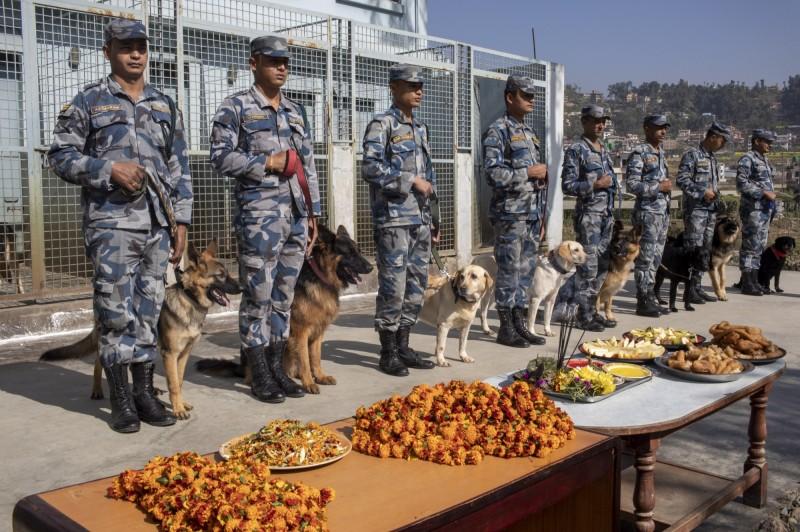 在這一天,家家戶戶都會為狗狗準備豐盛大餐,警隊也不例外。(歐新社)<br /><p>