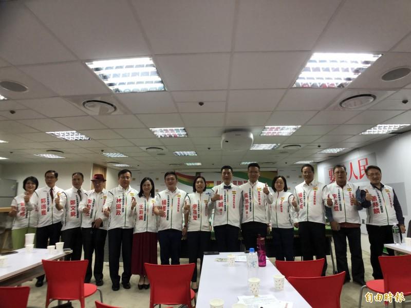 國會政黨聯盟公布14位區預立委參選人名單。(記者陳昀攝)