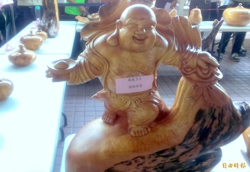 彌勒佛像。(資料照,記者謝介裕攝)