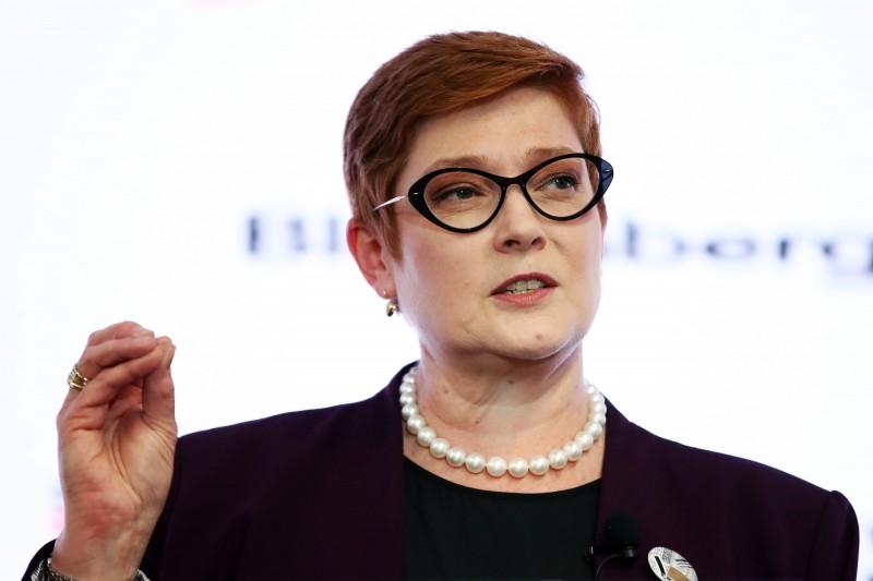 澳洲外交部長佩恩(Marise Payne)表示,政府將要求中國對人權等問題負責。(彭博)