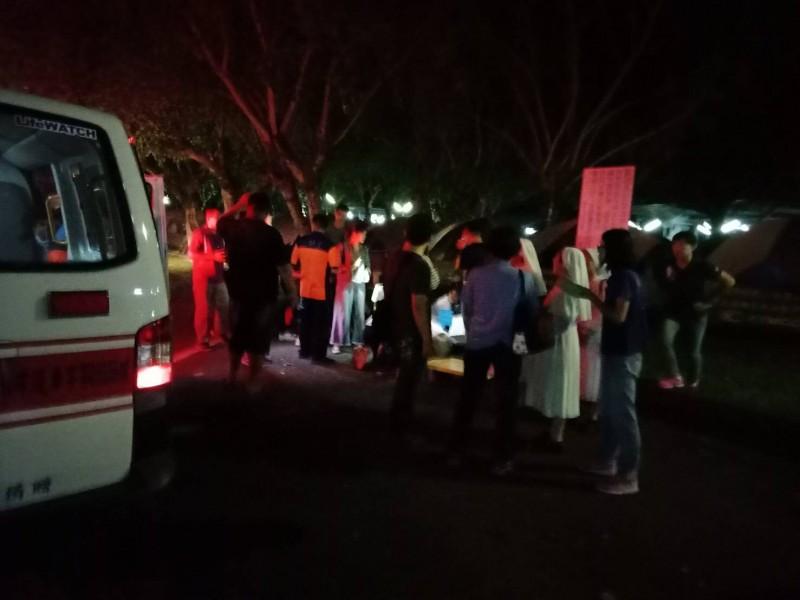 台中市私立曉明女中今在台南楠西曾文活動中心辦活動,但晚間卻傳出11名學生疑因野炊不慎,遭燒燙傷送醫。(記者萬于甄翻攝)