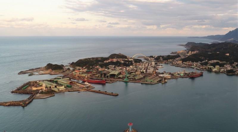 蔡英文總統「潛艦國造」政策,選定位於基隆和平島的台船基隆廠,打造潛艦產業園區。(基隆市政府提供)