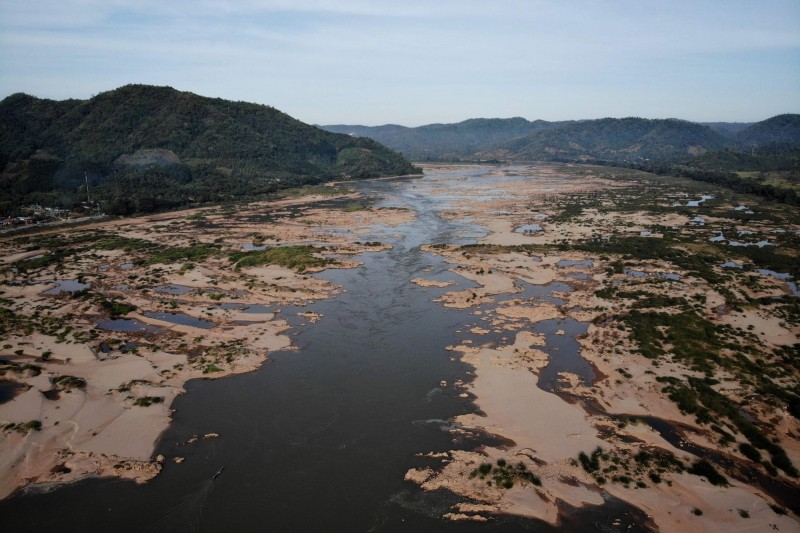 湄公河委員會(MRC)表示,今年6月至10的水位,是近30年來最低。(法新社)