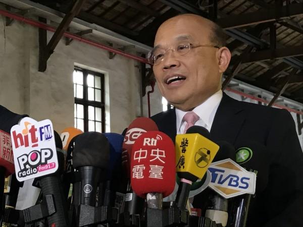 行政院長蘇貞昌出席「2019台灣地方創生展」開幕。(記者李雅雯攝)