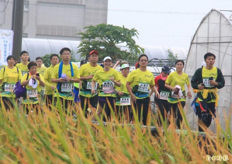 台灣米倉田中馬拉松獲選體育署「台灣品牌特色馬拉松」4大賽事,是唯一非6都獲選城市。(資料照,記者陳冠備攝)