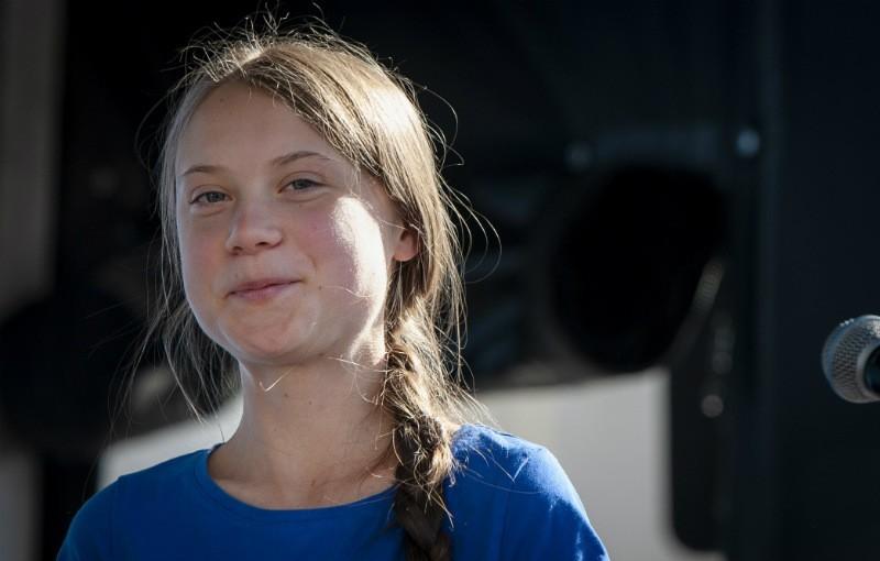 瑞典環保少女桑柏格(Greta Thunberg)。(歐新社)