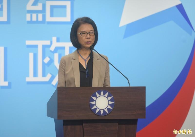 國民黨文傳會主委程美華回應,請卓榮泰不要對他黨說三道四,替人發誓。(資料照)