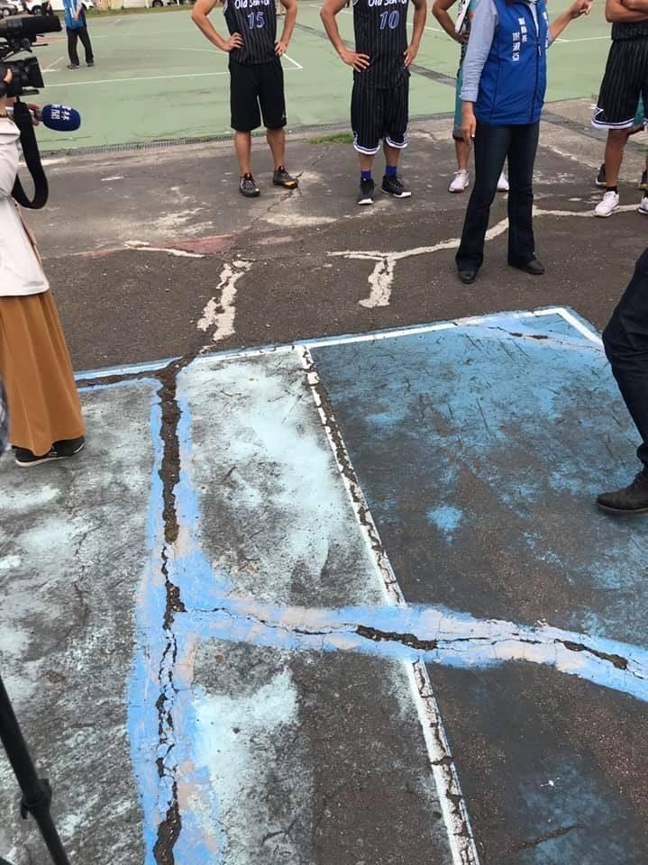 斗六籽公園籃球場獲兩千萬元經費補助,可望重建。(記者詹士弘翻攝)