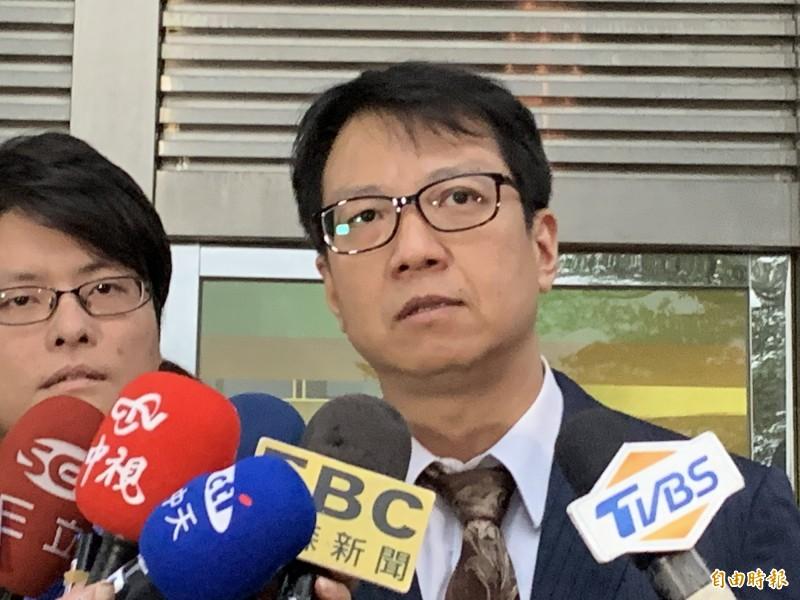 梁敏婷委任律師林晉宏。(記者溫于德攝)