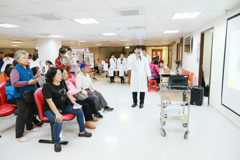新北市立聯合醫院今天舉辦「立冬中醫調養」活動。(新北聯合醫院提供)
