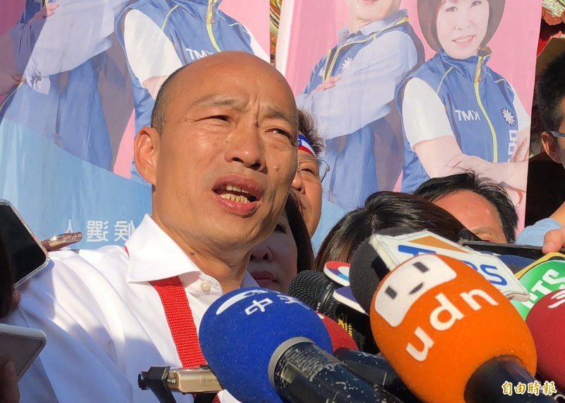 國民黨總統參選人韓國瑜近日猛攻青年議題,拋出「就學貸款免利息」政策,但遭教育部質疑恐引發套利行為。(資料照)