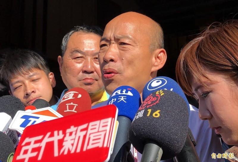 國民黨總統參選人韓國瑜擁有許多鋼鐵韓粉。(記者許麗娟攝)