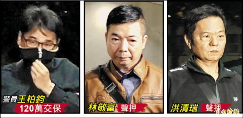 警員王柏鈞涉嫌與2友人合謀,詐騙退休建商逾600萬元。 (記者黃捷、錢利忠攝)
