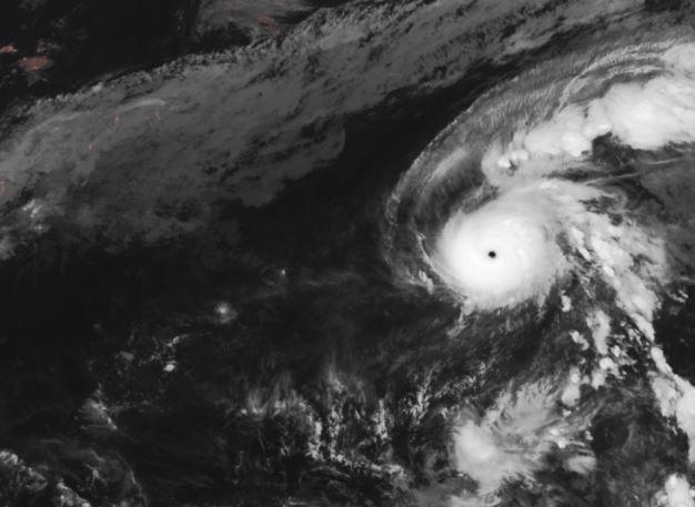 「天氣風險」強調,單純以衛星資料分析,哈隆颱風相當有機會挑戰今年西太平洋的「風王」,和上個月的颱風「哈吉貝」颱風一較高下。(圖片擷取自中央氣象局)