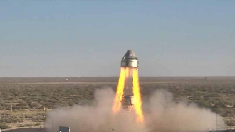 美國波音公司成功進行太空艙「CST-100 Starliner」緊急安全測試。(法新社)