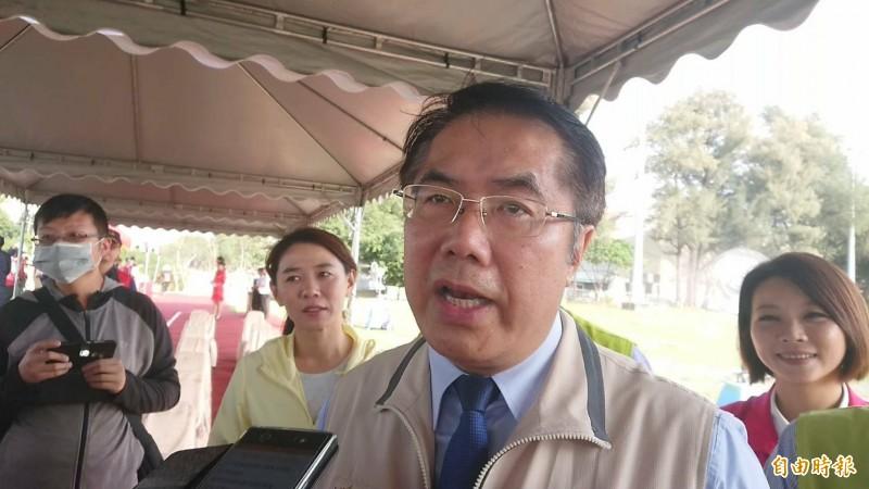 台南市長黃偉哲認為,林志玲在南美館1館辦婚禮宴會,對於城市行銷是好事。(記者洪瑞琴攝)