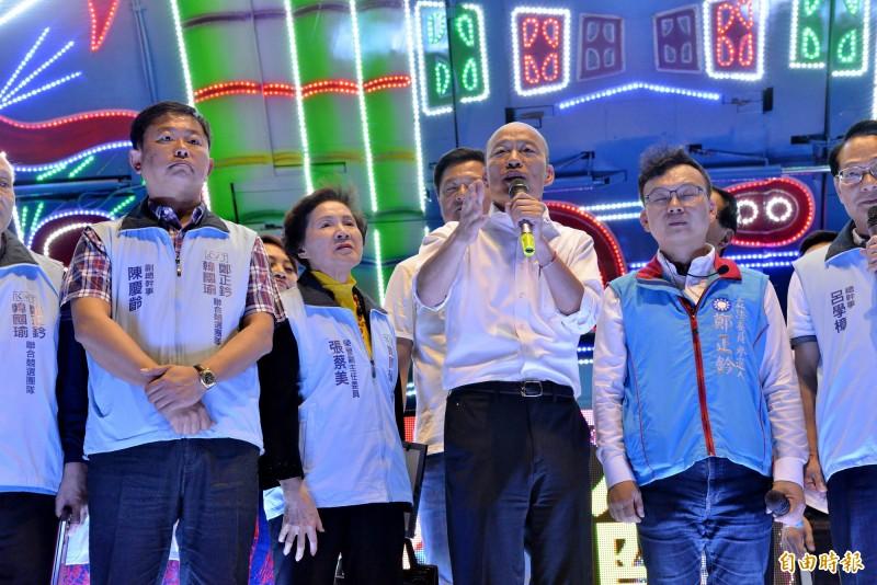 國民黨總統參選人韓國瑜今天將於新竹縣跑行程。(資料照)