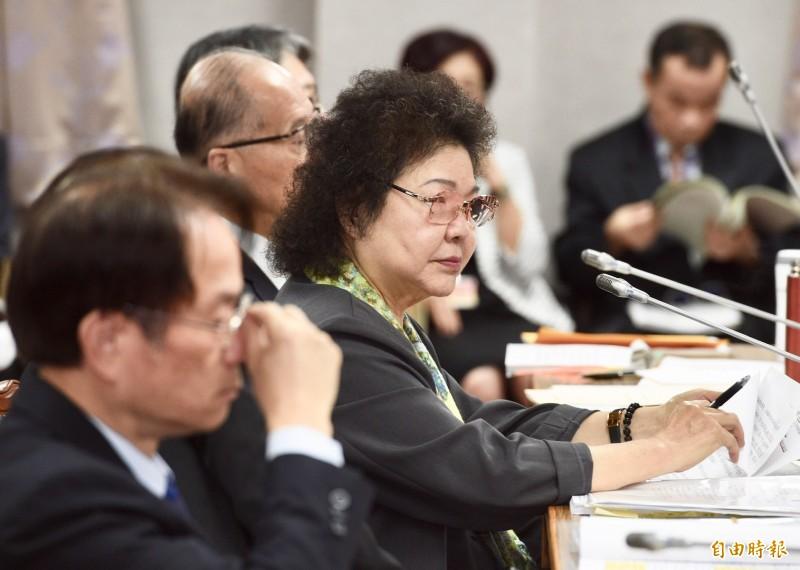 陳菊表示,並沒有參與、促成或是推進蔡賴配,因為她覺得「越自然越好」。(記者羅沛德攝)