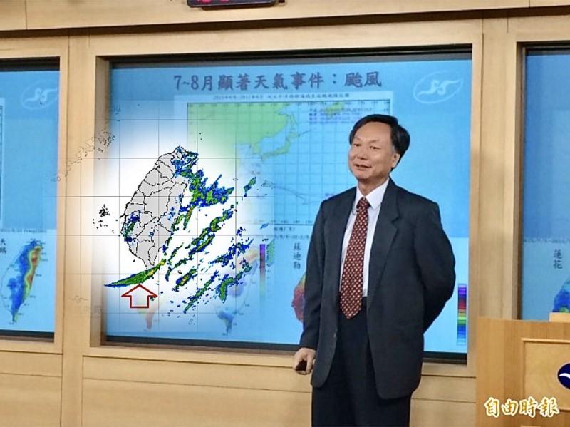 氣象局副局長鄭明典在臉書指出,雷達回波圖中有時會出現非氣象要素造成的回波。(圖擷取自鄭明典臉書,本報資料照合成圖)