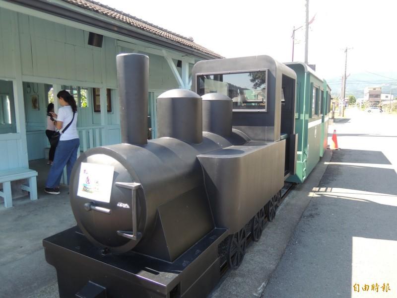 三星鄉復刻版太平山小火車停駛,引起外界諸多聯想。(記者江志雄攝)