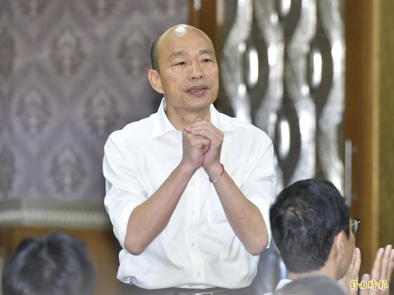 國民黨總統參選人韓國瑜。(記者塗建榮攝)