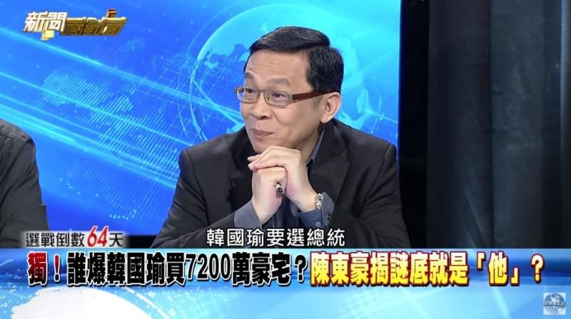 陳東豪認為,「韓國瑜要選總統,大家嘴巴就很多嘴」。(圖擷取自年代新聞台)