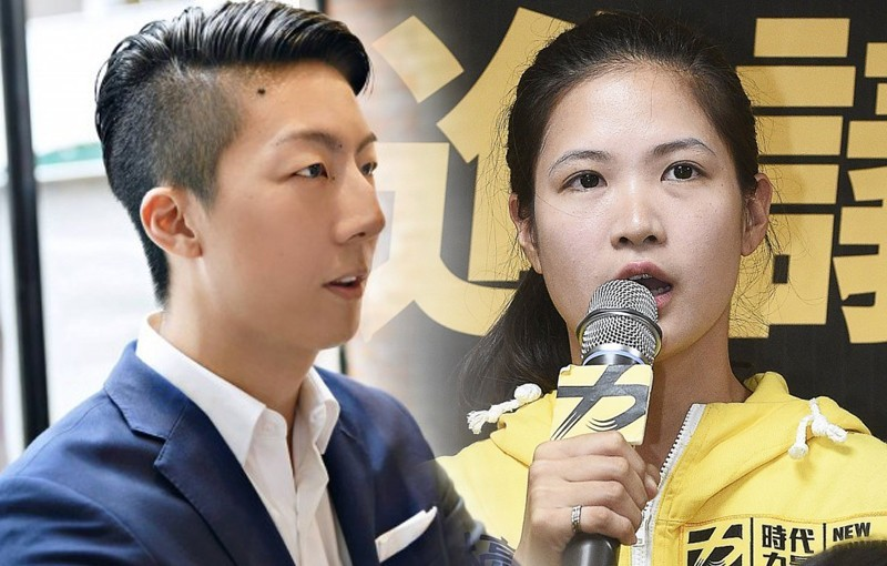 時代力量黨員吳崢(左)、林亮君(右)今晚宣布退黨。(合成圖)