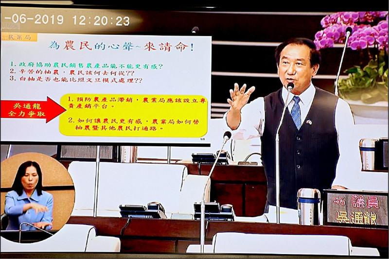 台南市議員吳通龍。(記者王捷翻攝自臉書)