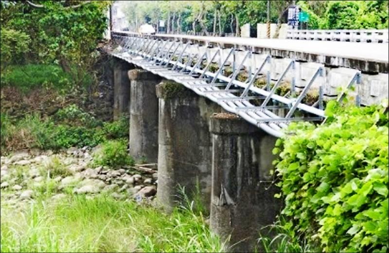 嘉縣中埔裕民橋被列入優先改建橋梁。(記者林宜樟翻攝)