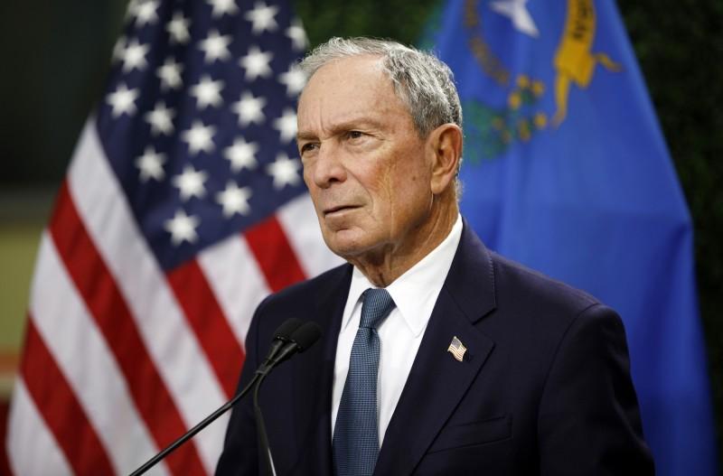 前紐約市長、媒體大亨彭博登記成為美國阿拉巴馬州民主黨總統初選參選人。(美聯社)
