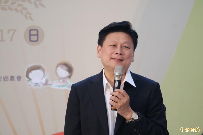 台灣第一屆「1111筷子節」今早在花蓮新天堂樂園登場,前花蓮縣長傅崐萁受邀參加力推國道6延伸花蓮。(記者王錦義攝)