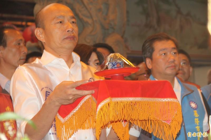 韓國瑜(見圖)現為國民黨總統參選人,卻屢次爆出爭議言論,被社會輿論抨擊。(資料照)