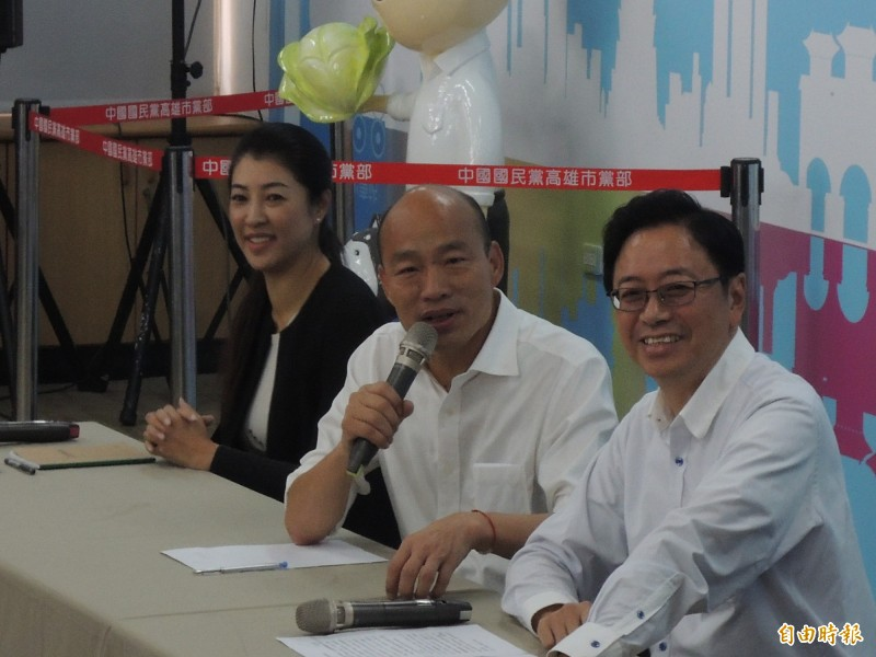 韓國瑜強調,張善政一直是他心中副手首選。(記者王榮祥攝)