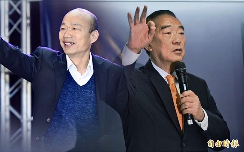 趙少康認為,宋楚瑜出線,能吸收國民黨的分裂票,藉此壯大親民黨。(資料照,本報合成)