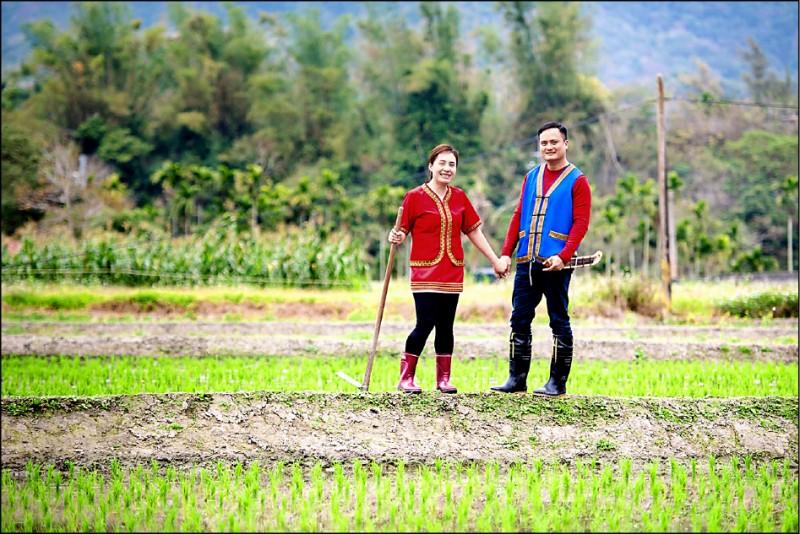 黃忠文與妻子蔡禮闈雙雙辭去工作,投入農業,打造「泰源幽谷獼米」,促進部落發展。 (黃忠文提供)